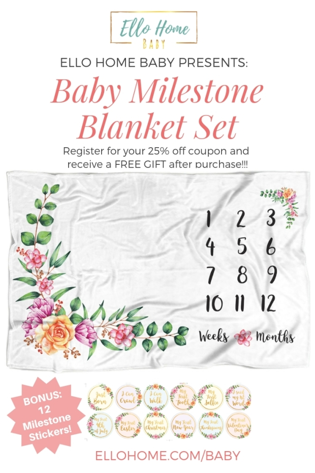Baby Milestone Blanket, Save 25%