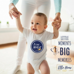 Baby Boy Walking Whale Milestone Sticker