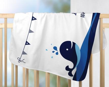 Blue Whale Milestone Blanket